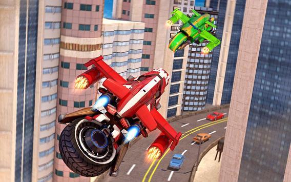 Flying Bike Robot Transforming War screenshot 21