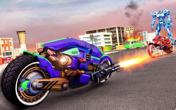 Flying Bike Robot Transforming War screenshot 22
