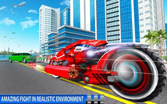 Flying Bike Robot Transforming War screenshot 17