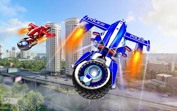 Flying Bike Robot Transforming War poster
