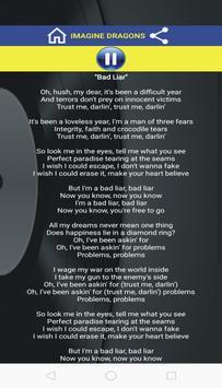 Bad Liar - Lyrics screenshot 1