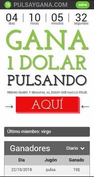 Pulsa y Gana 1 Dolar - Ganar dinero jugando gratis poster