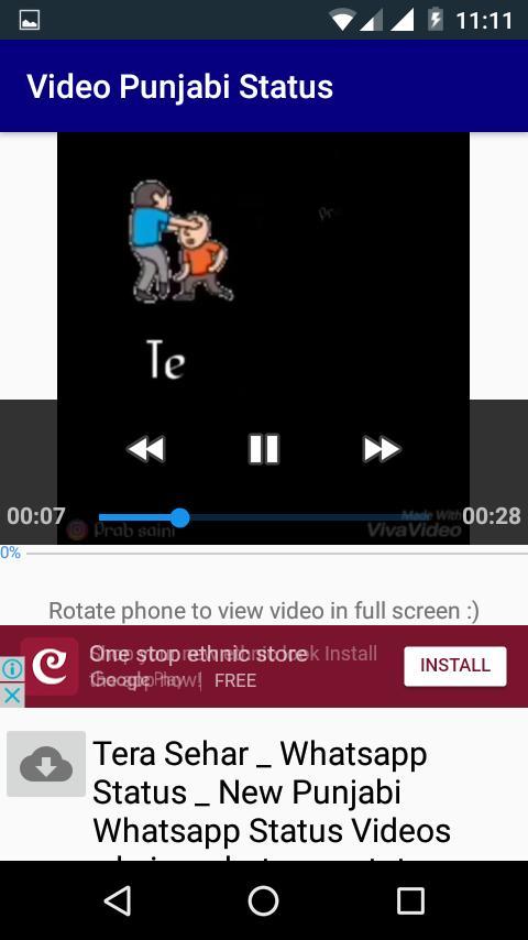 Punjabi Video Status Song Punjabi Song Status App For