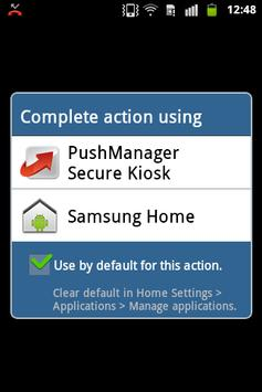 PushManager Secure Kiosk Affiche