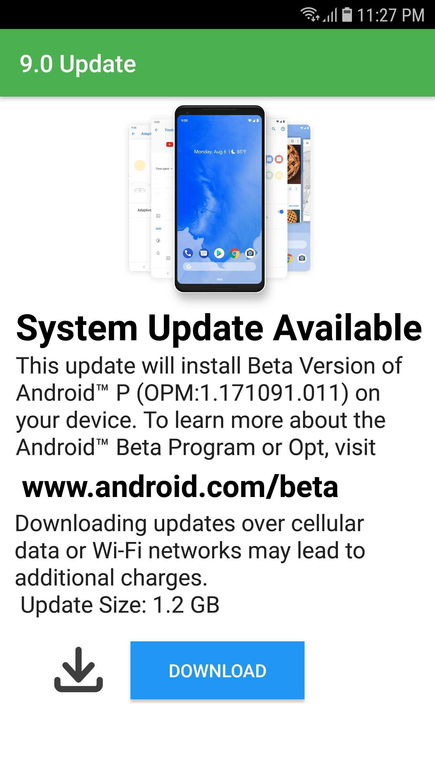 Update to Android P - 9 0 for Android - APK Download