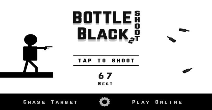 Bottle Shoot Black 2 poster