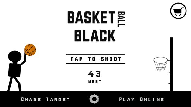 Basketball Black poster