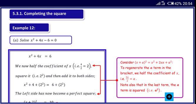 Algebra 1 FREE A-Level Pure Math syot layar 8