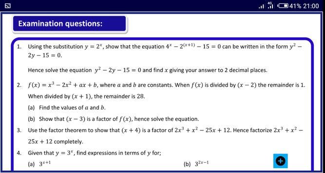 Algebra 1 FREE A-Level Pure Math syot layar 23