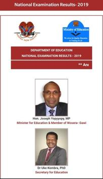 My PNG Exam Results poster