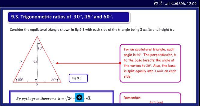 Trigonometry 1 स्क्रीनशॉट 10