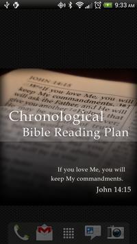 Chronological Bible Plan poster