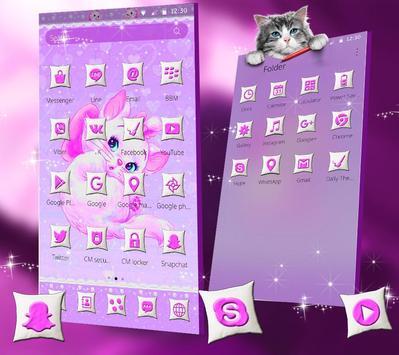 Purple Cute Cat Theme screenshot 1