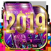 Happy New Year 2019 theme icon