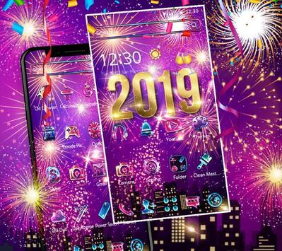 Happy New Year 2019 theme screenshot 8