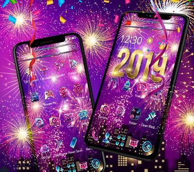 Happy New Year 2019 theme screenshot 9