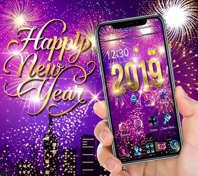 Happy New Year 2019 theme poster