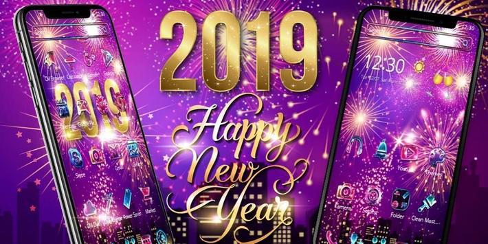 Happy New Year 2019 theme screenshot 3