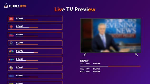 IPTV Smart Purple Player - No Ads syot layar 1