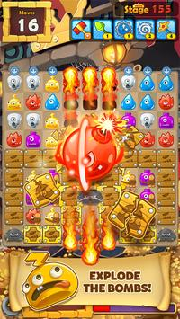 MonsterBusters: Match 3 Puzzle постер