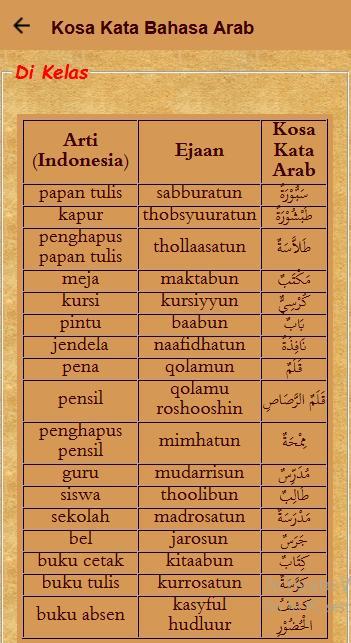 Belajar Kosa Kata Bahasa Arab For Android Apk Download