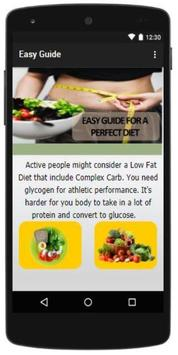 Easy guide for a Perfect Diet screenshot 2