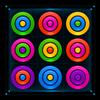 Puzzle kolorowe pierścienie ikona