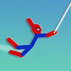Super Hero Hook: Stickman Rope Swing icono