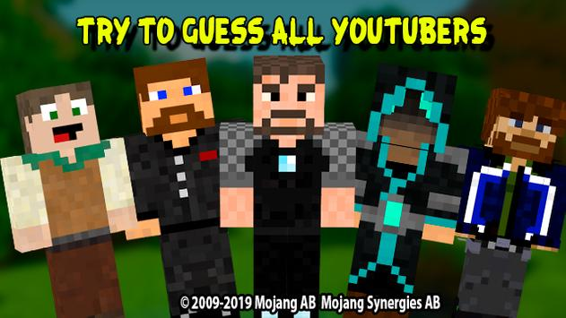 Guess youtubers: quiz for minecraft screenshot 2