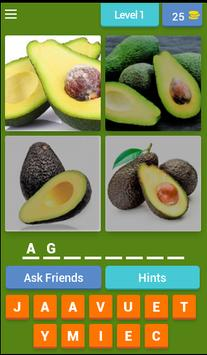 4 Pics 1 Word Fruits Spanish poster