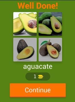 4 Pics 1 Word Fruits Spanish screenshot 12