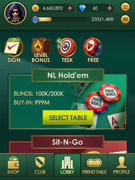 Poker World: Texas hold'em screenshot 5