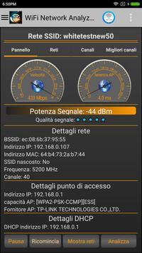 1 Schermata Analizzatore WiFi Pro