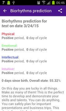 Personal Biorhythms Calculator screenshot 5
