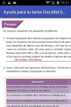 Ayuda Tarea de Desafíos Mate 6 screenshot 5