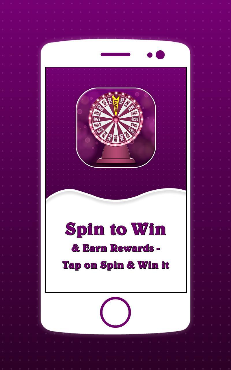 Spin to Win & Earn Rewards - Tap on Spin & Win it for
