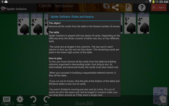 Spider Solitaire screenshot 15