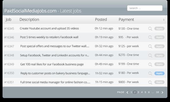 Paid Social Media Jobs screenshot 14