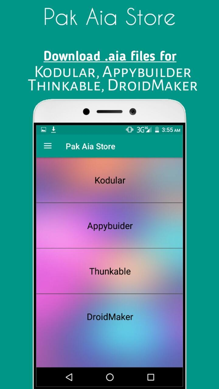 Pak Aia Store(Download Project/ aia files) for Android - APK