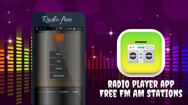 Radio Player app Free FM AM Stations poster