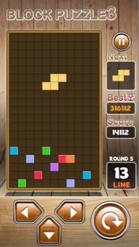 Block Puzzle 3 : Classic Brick تصوير الشاشة 12