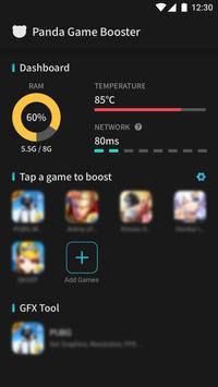 Panda Game Booster & GFX Tool for Battleground captura de pantalla 2