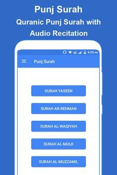 Panj Surah Shareef Audio: Urdu-English Translation poster