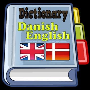 Danish English Dictionary poster