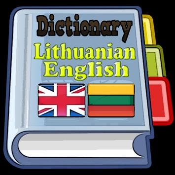 Lithuanian English Dictionary poster