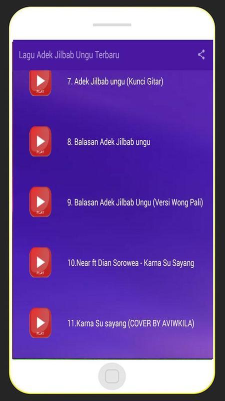 Lagu Adek Jibab Ungu Terbaru For Android Apk Download