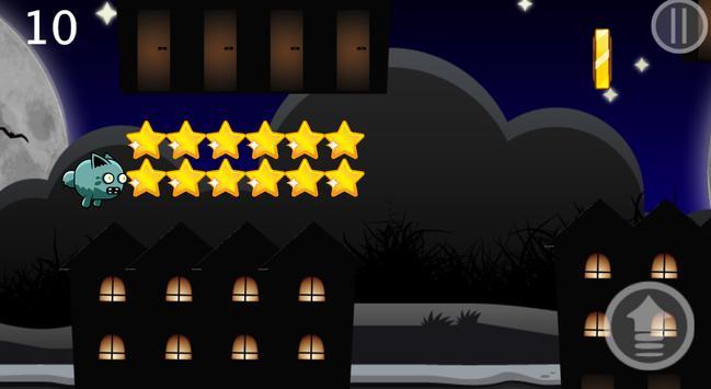 Flappy Zombie Cat screenshot 1