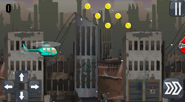 Helicopter In The Destroyed City screenshot 1