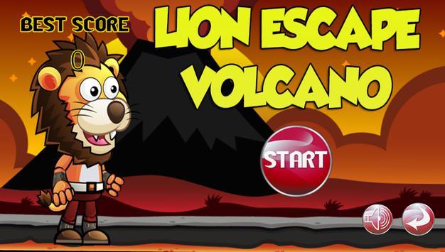 Lion Escape Volcano poster