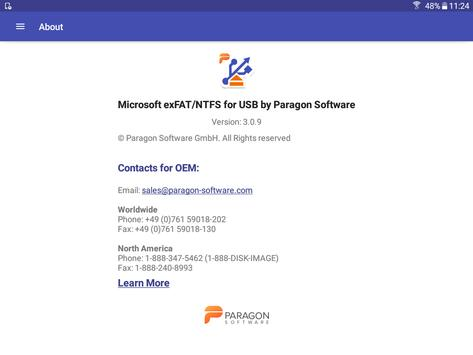 exFAT/NTFS for USB by Paragon Software скриншот 10